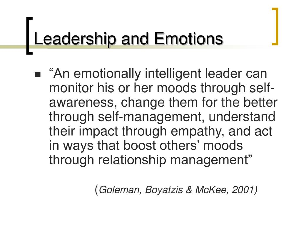 Leadership and Emotions