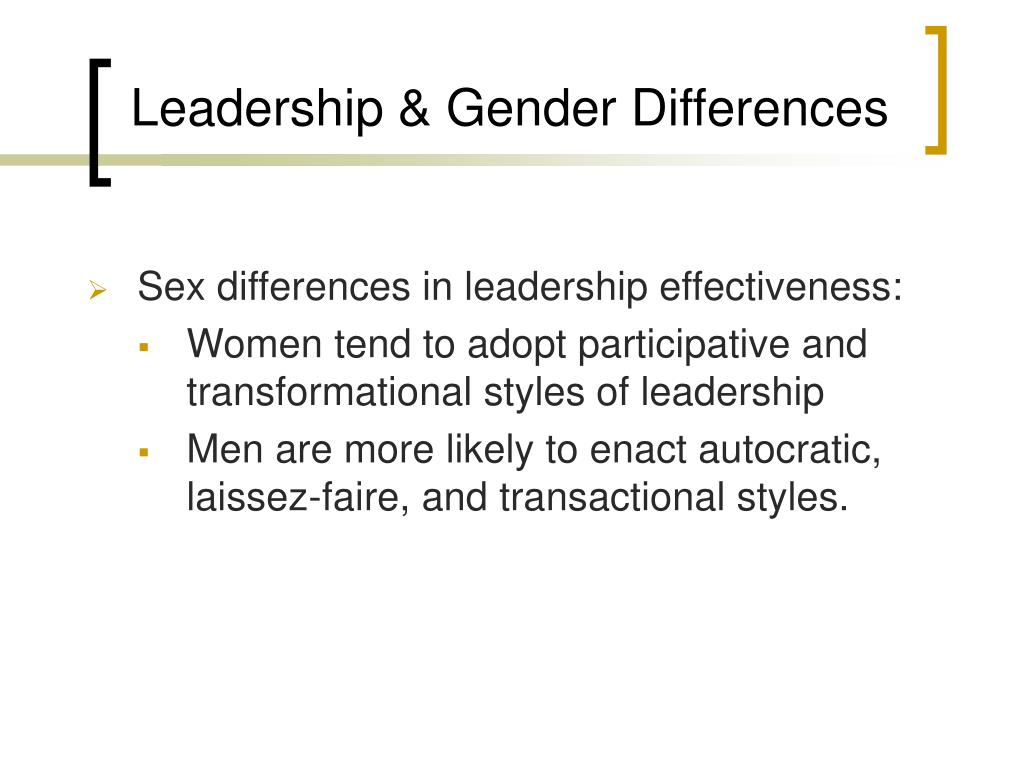 Leadership & Gender Differences