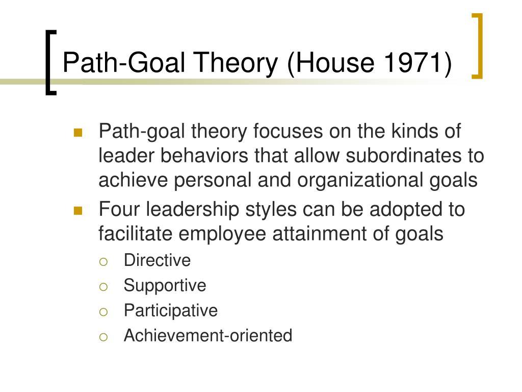 Path‑Goal Theory (House 1971)