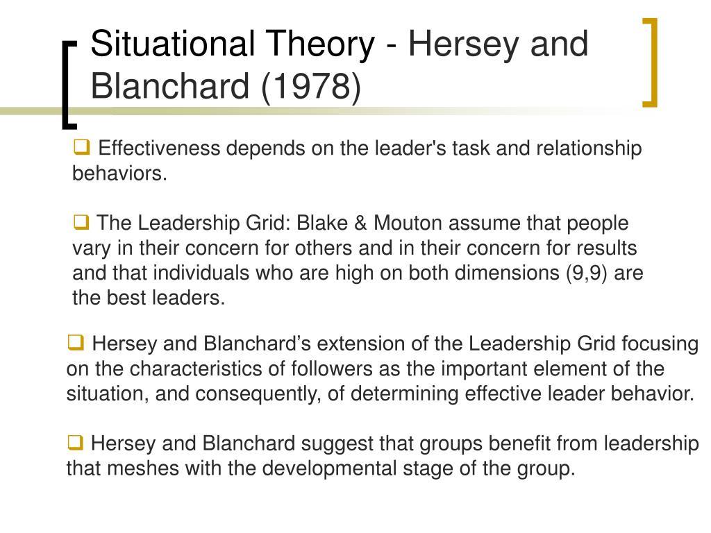 Situational Theory -