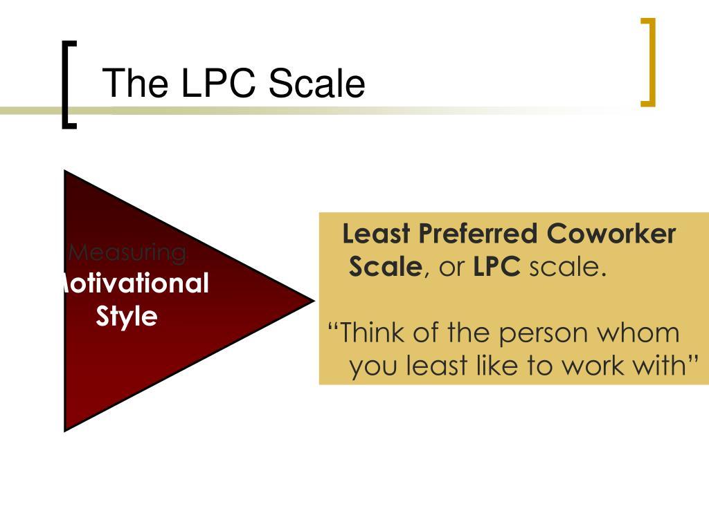 The LPC Scale