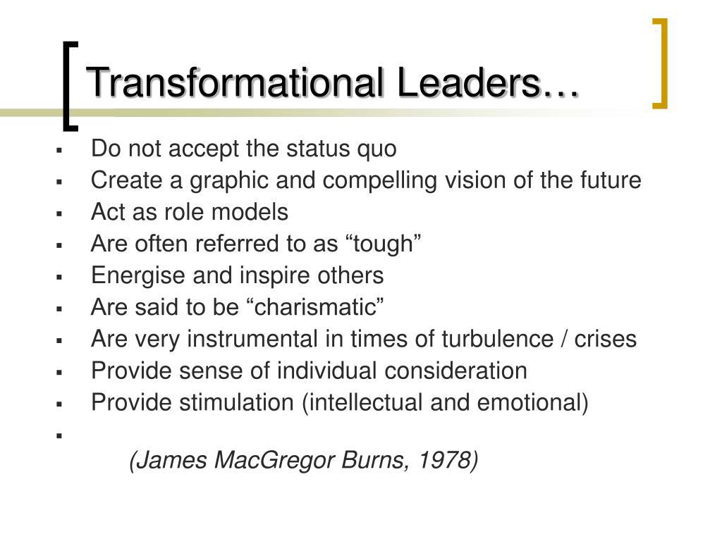 Transformational Leaders