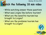 watch the following 18 min video