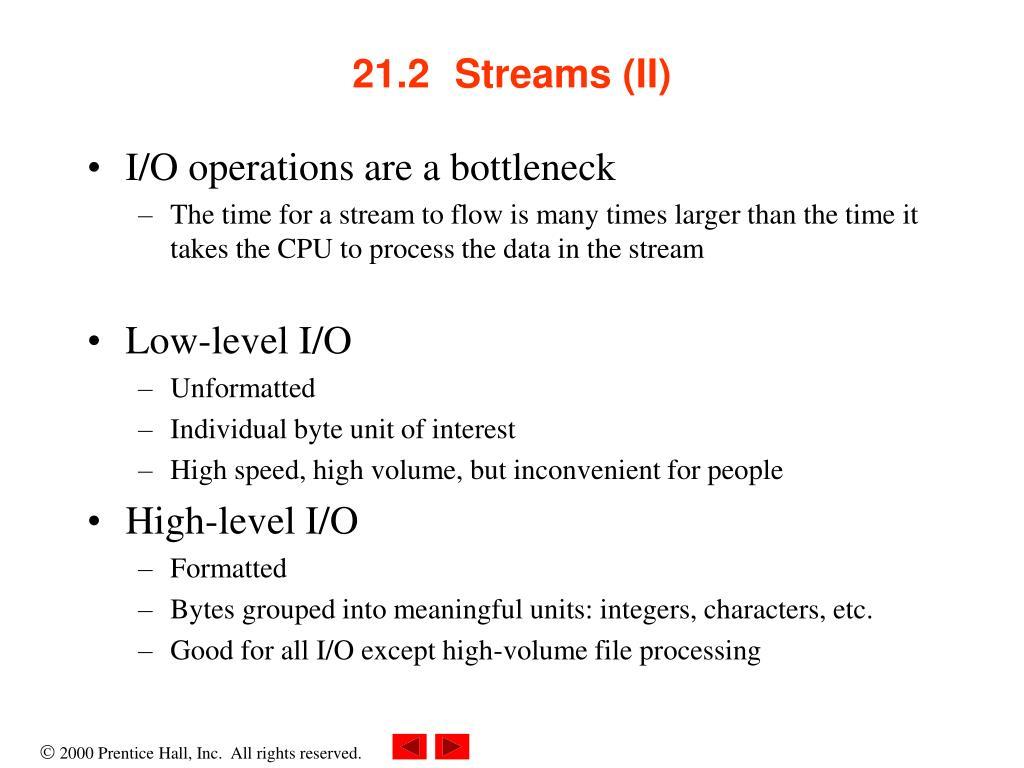 21.2 Streams (II)
