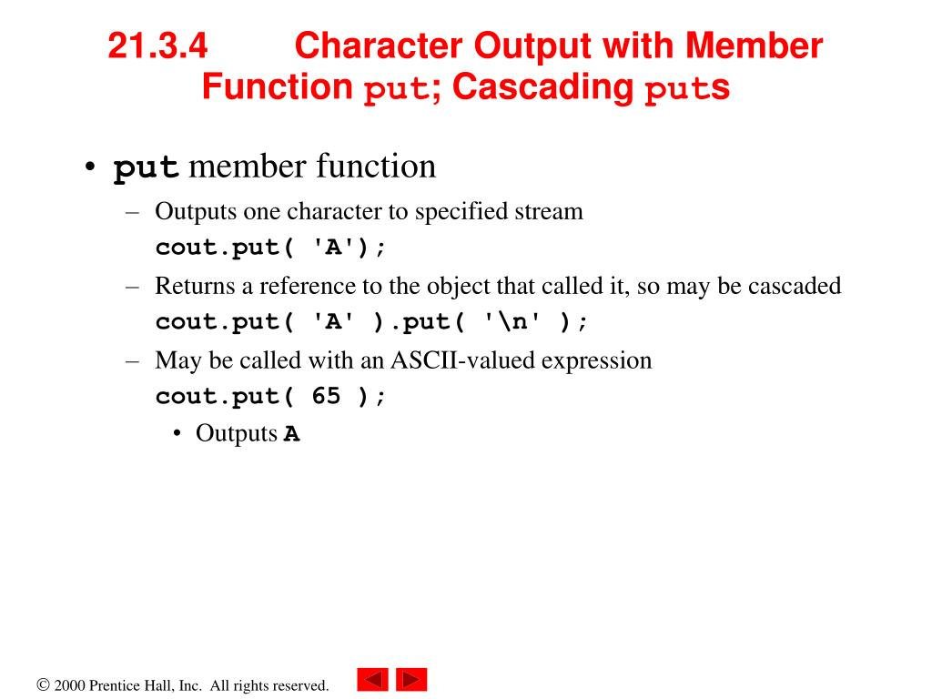 21.3.4Character Output with Member Function