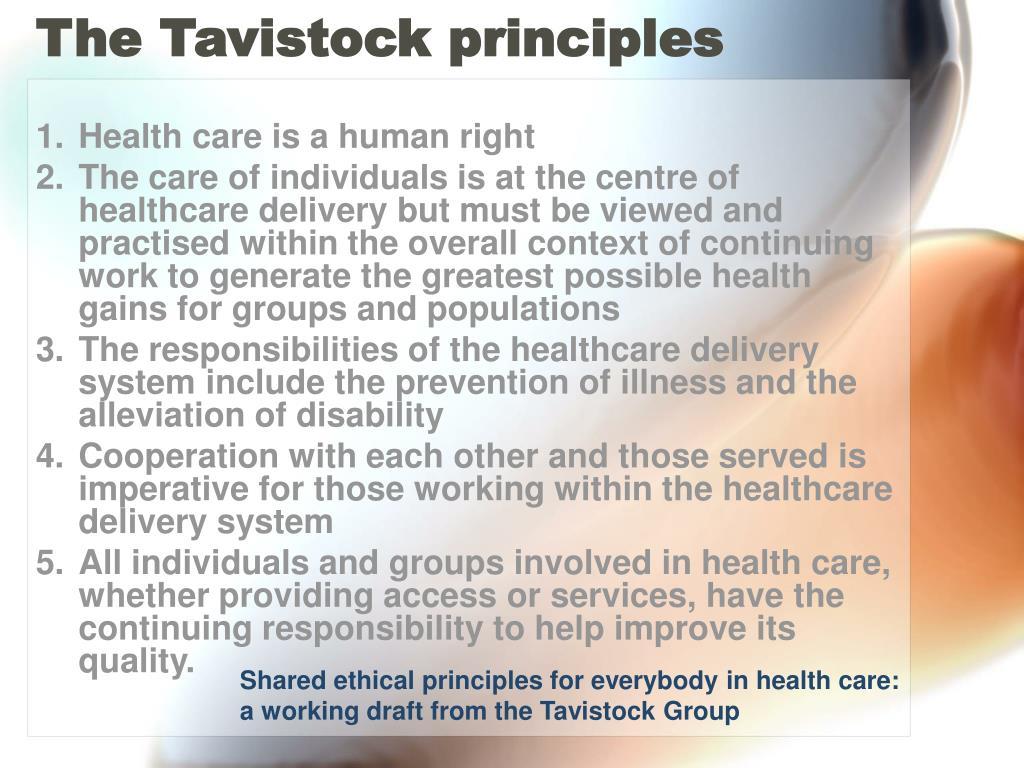 The Tavistock principles