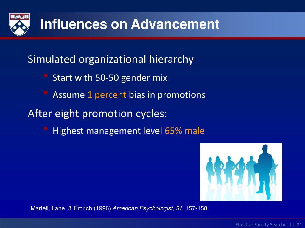 Influences on Advancement