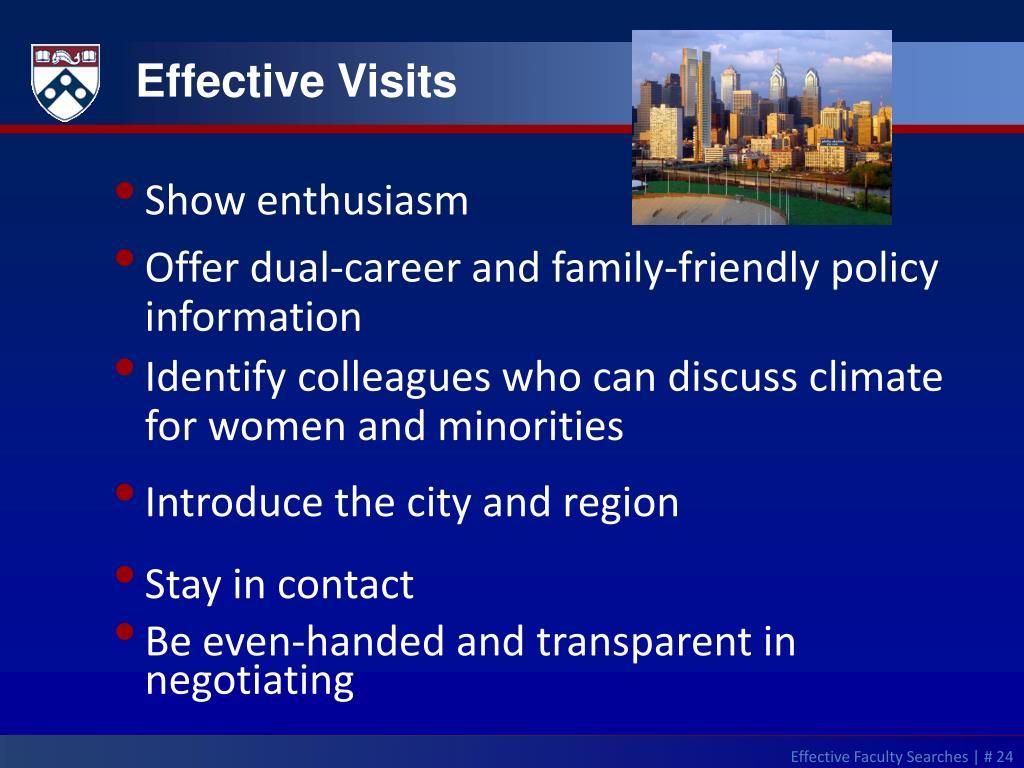 Effective Visits