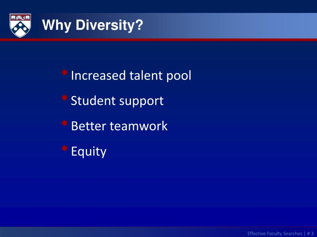 Why Diversity?