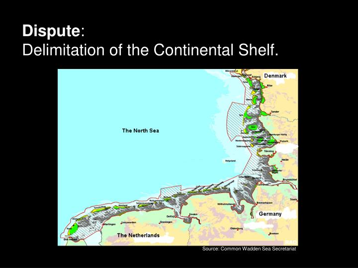 Dispute delimitation of the continental shelf