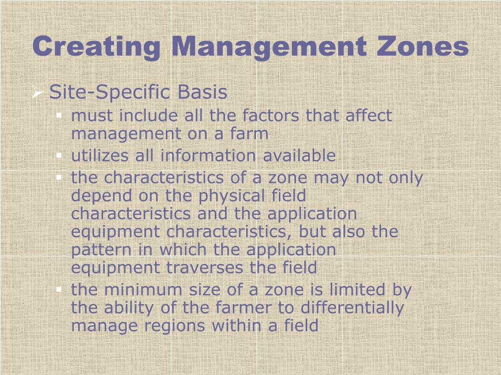 Creating Management Zones