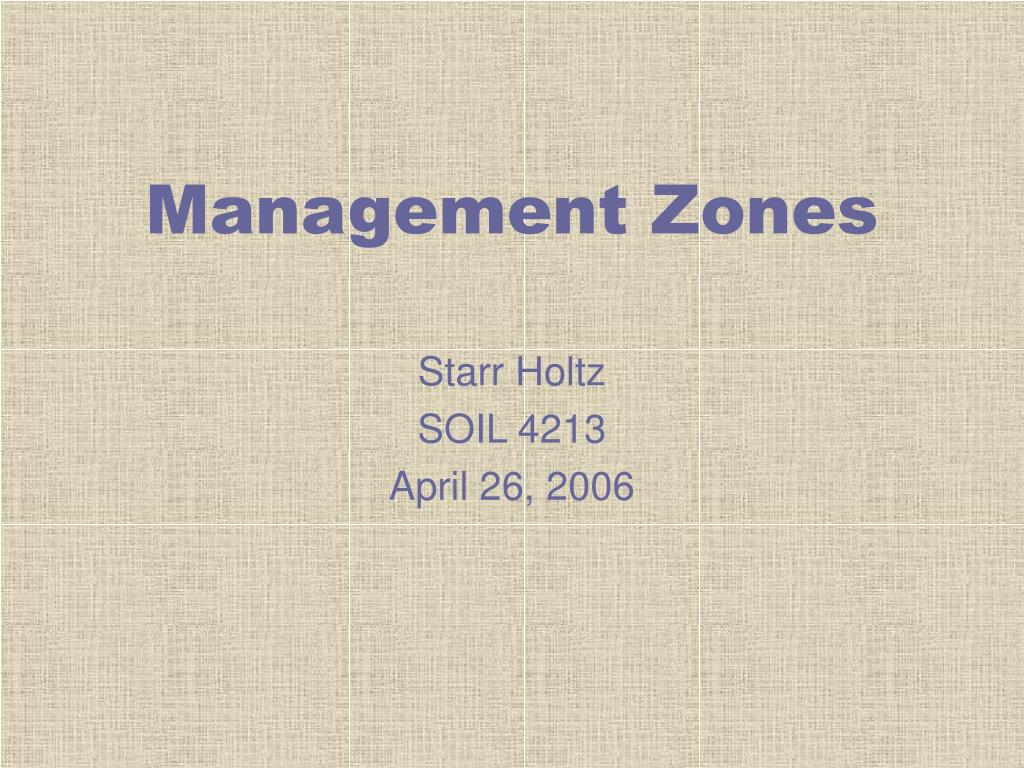 Management Zones