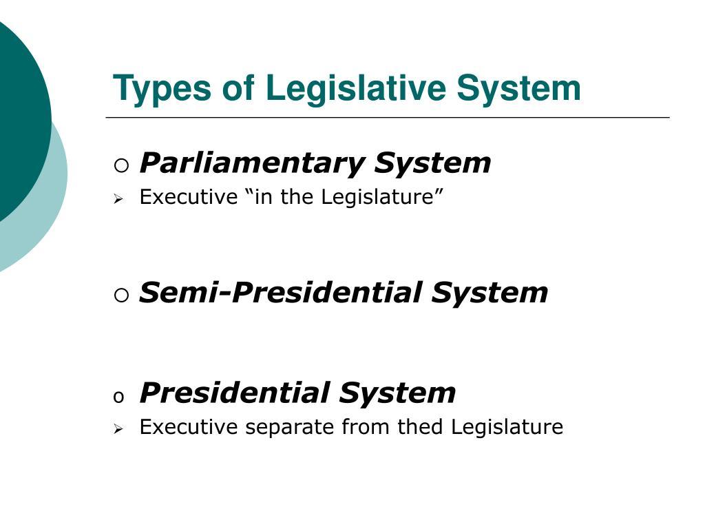 Types of Legislative System