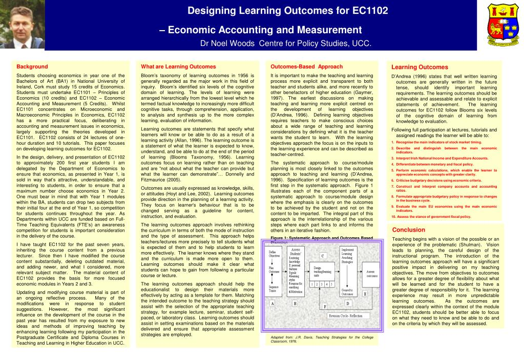 Designing Learning Outcomes for EC1102