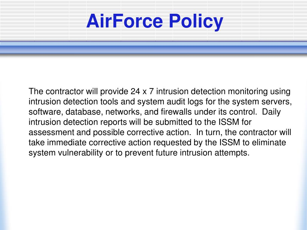 AirForce Policy