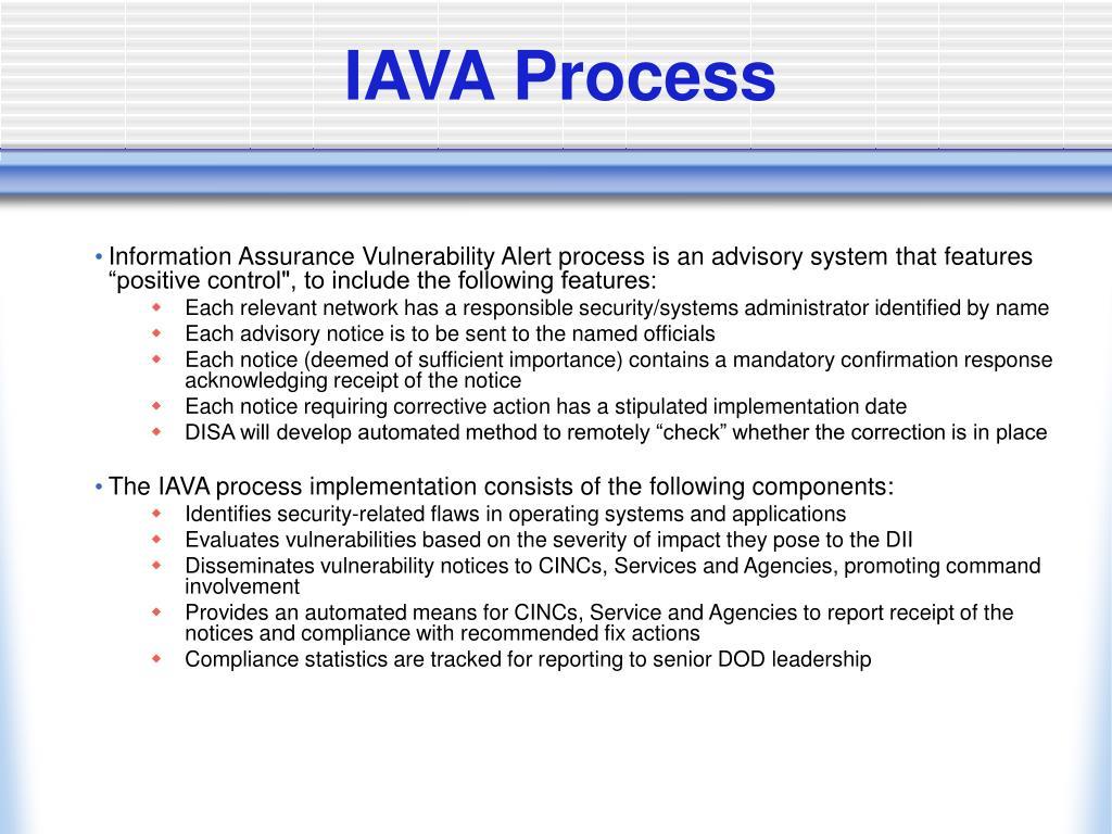 IAVA Process