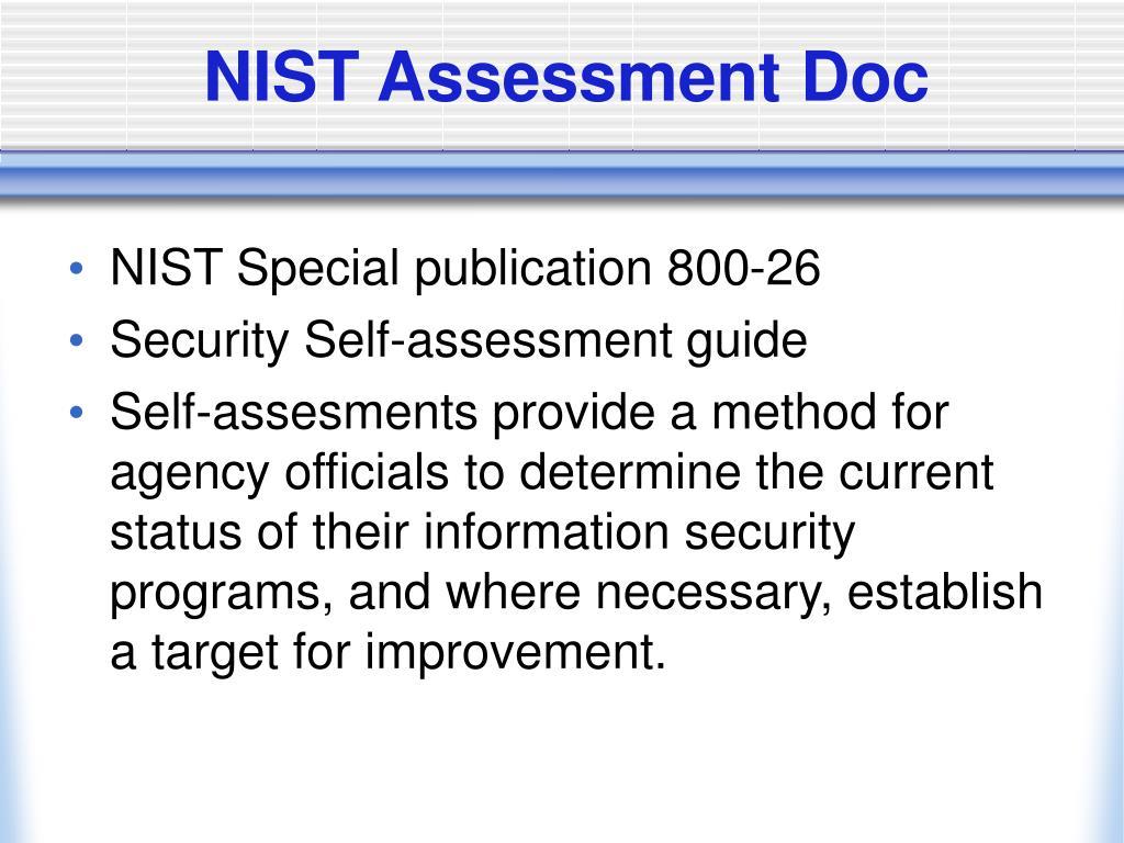 NIST Assessment Doc