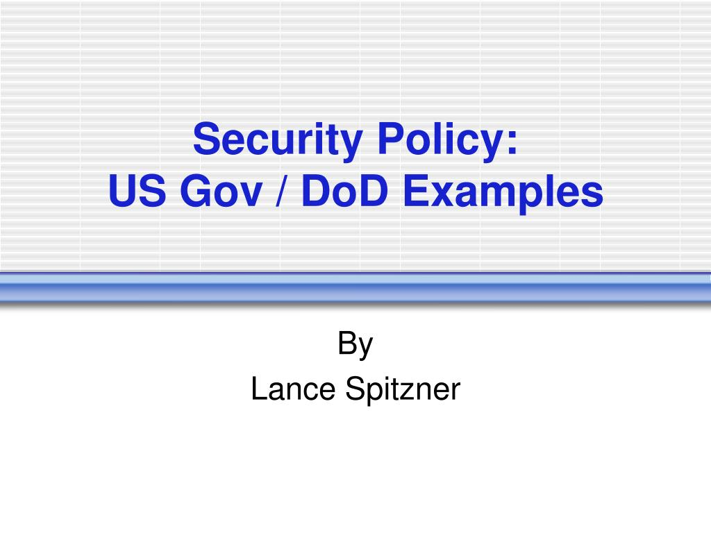 Security Policy: