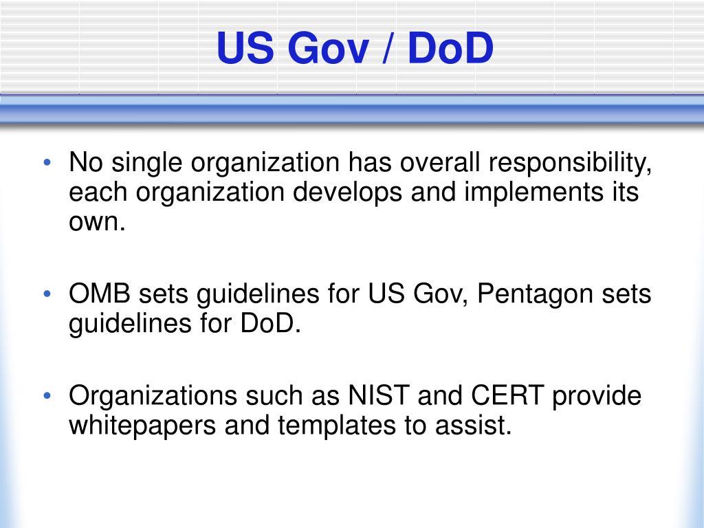 US Gov / DoD
