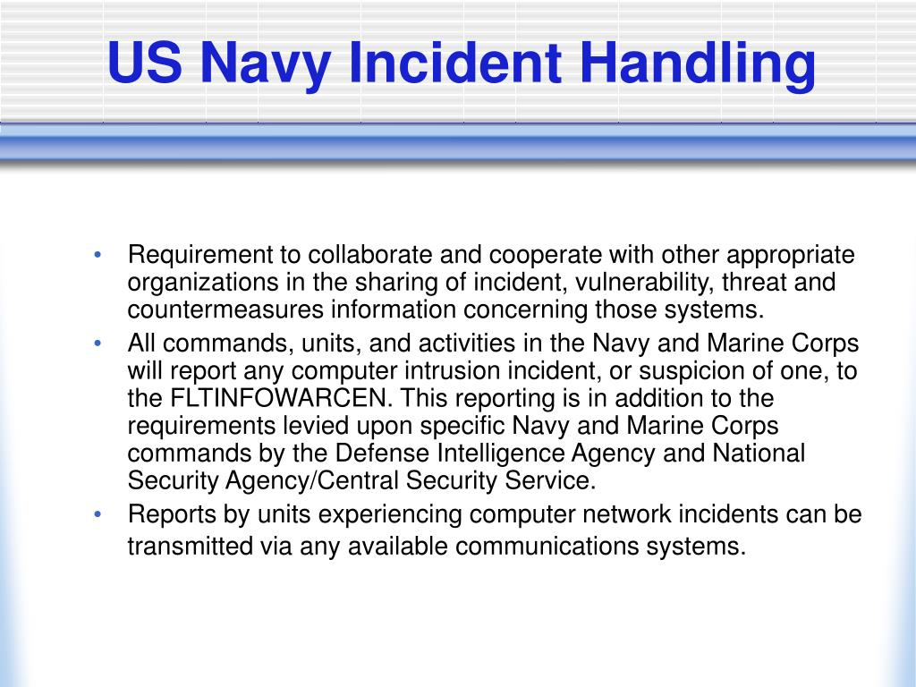 US Navy Incident Handling