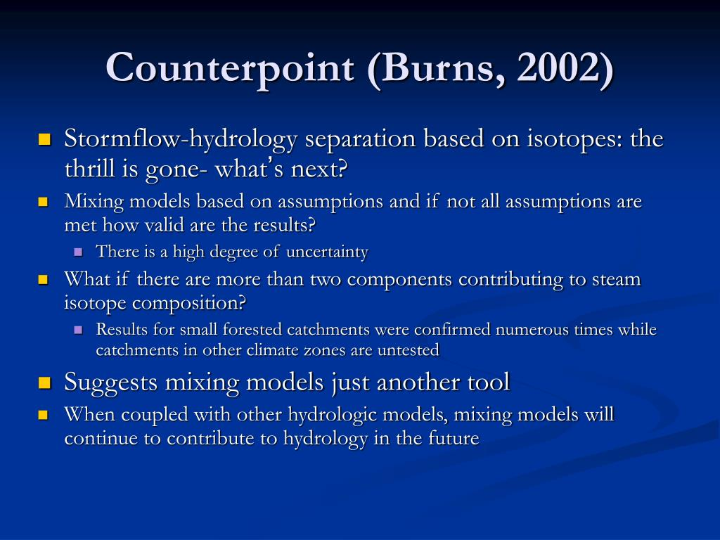 Counterpoint (Burns, 2002)