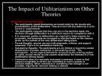 the impact of utilitarianism on other theories15