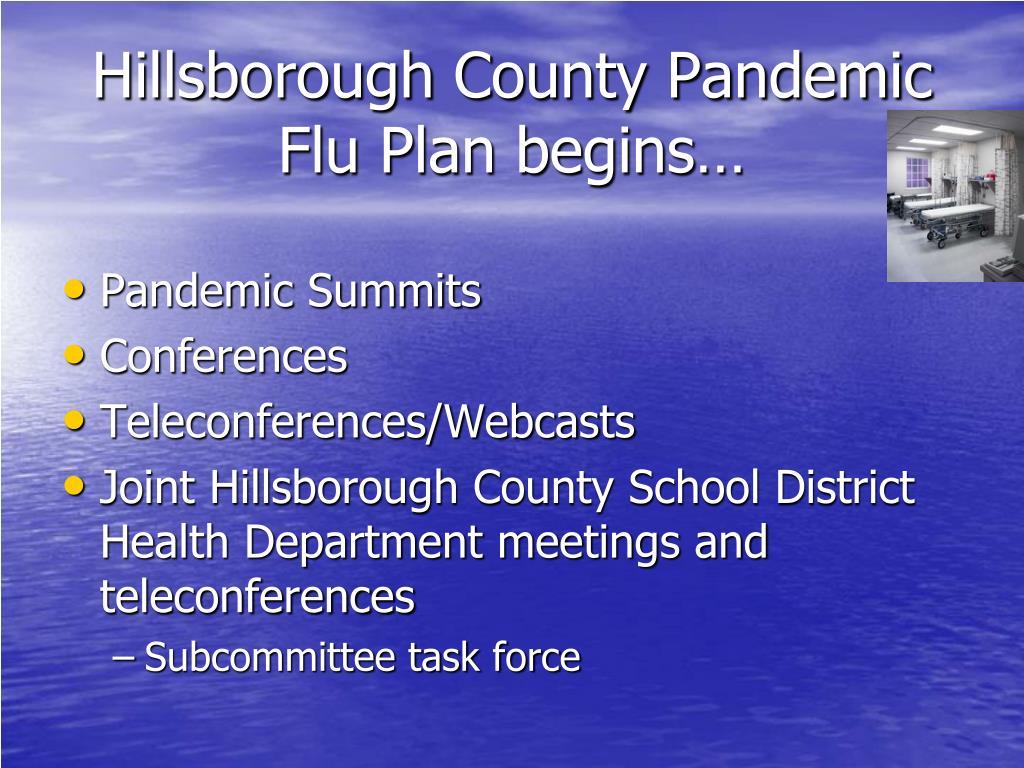 Hillsborough County Pandemic Flu Plan begins…