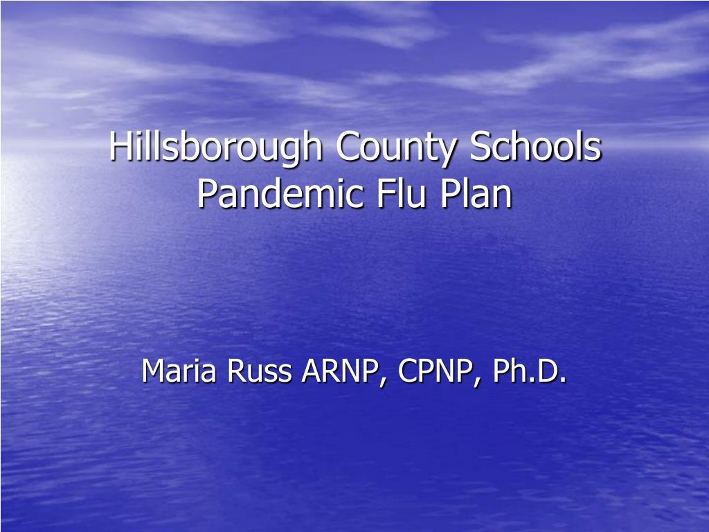 Hillsborough County Schools Pandemic Flu Plan