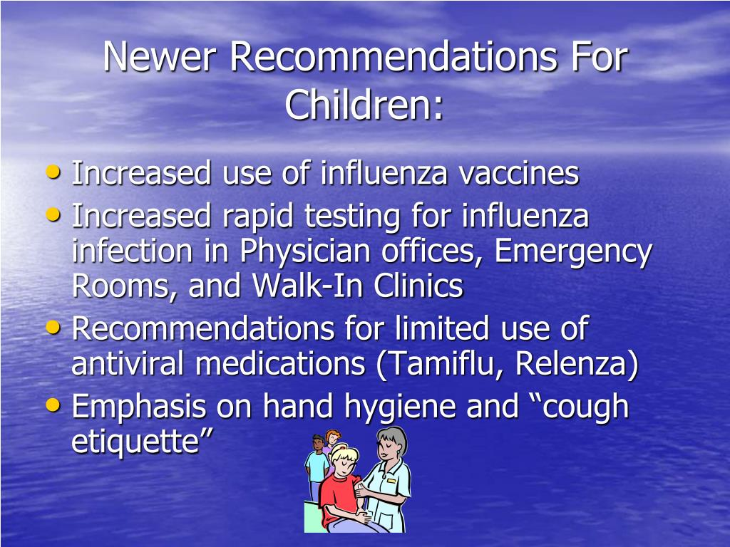 Newer Recommendations For Children: