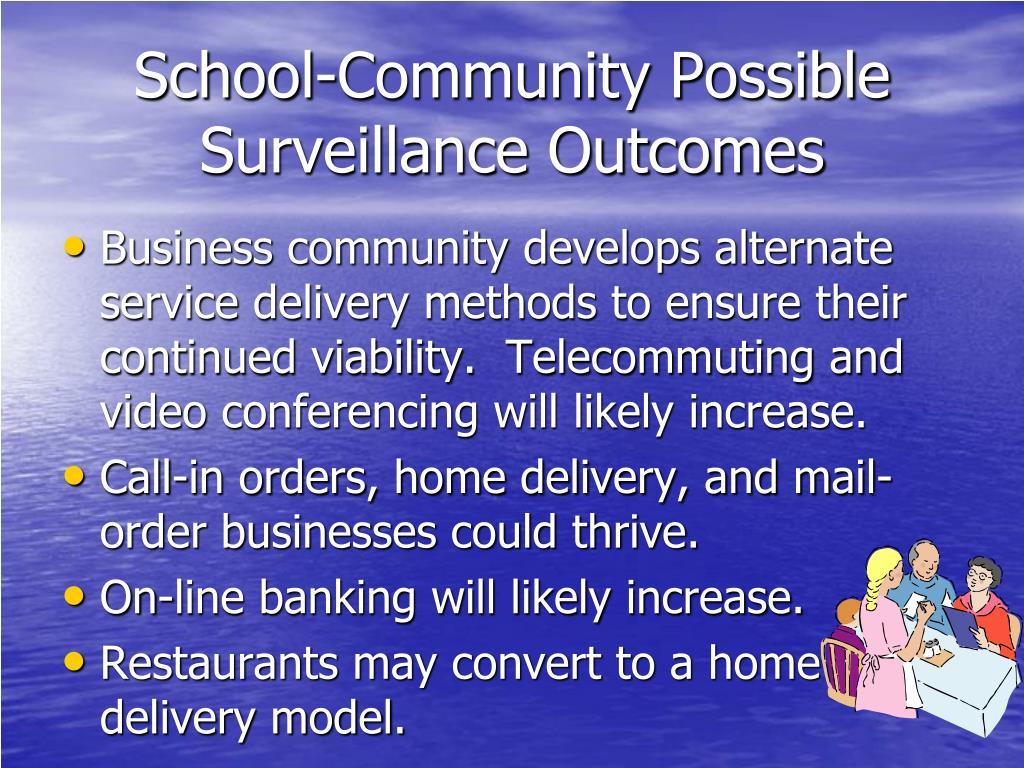 School-Community Possible Surveillance Outcomes
