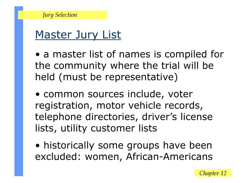 Master Jury List