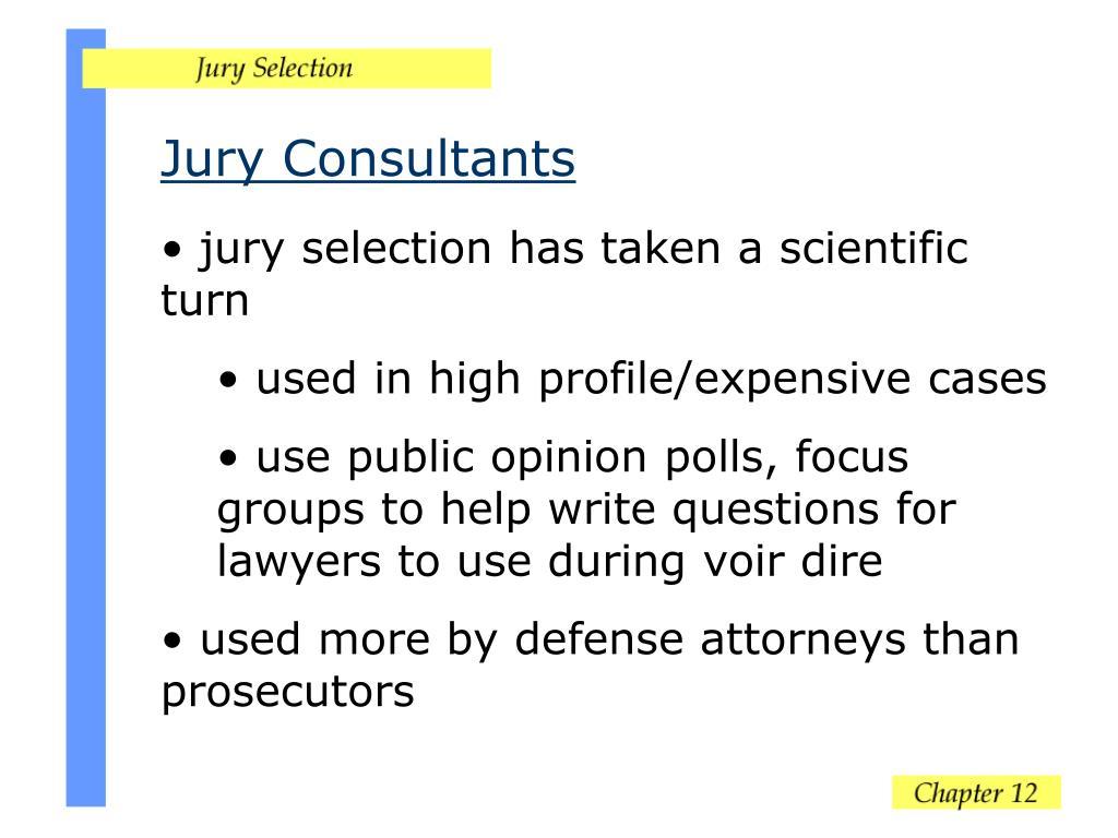 Jury Consultants
