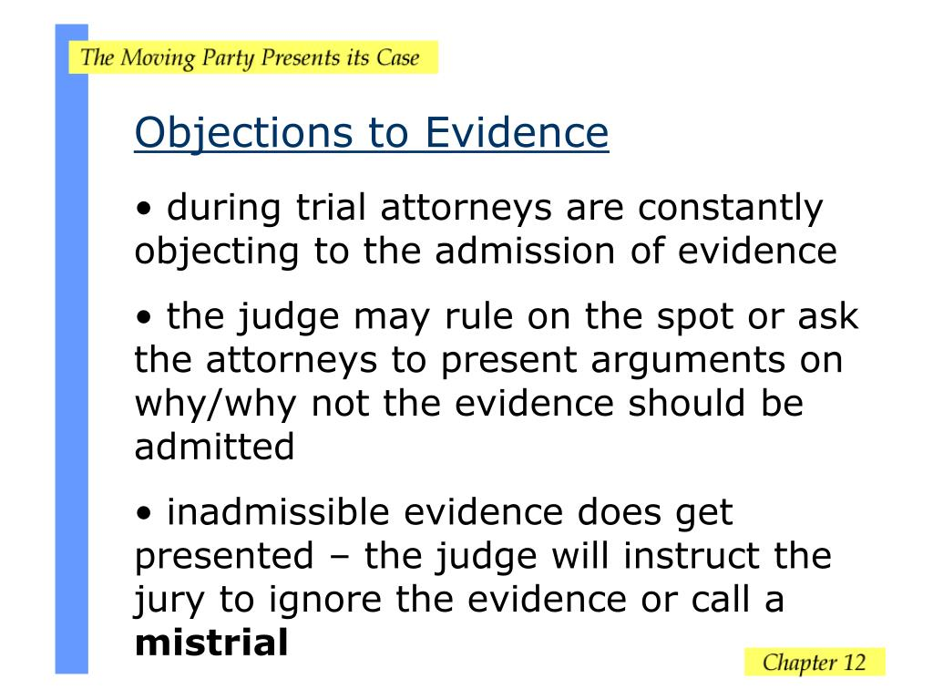 Objections to Evidence