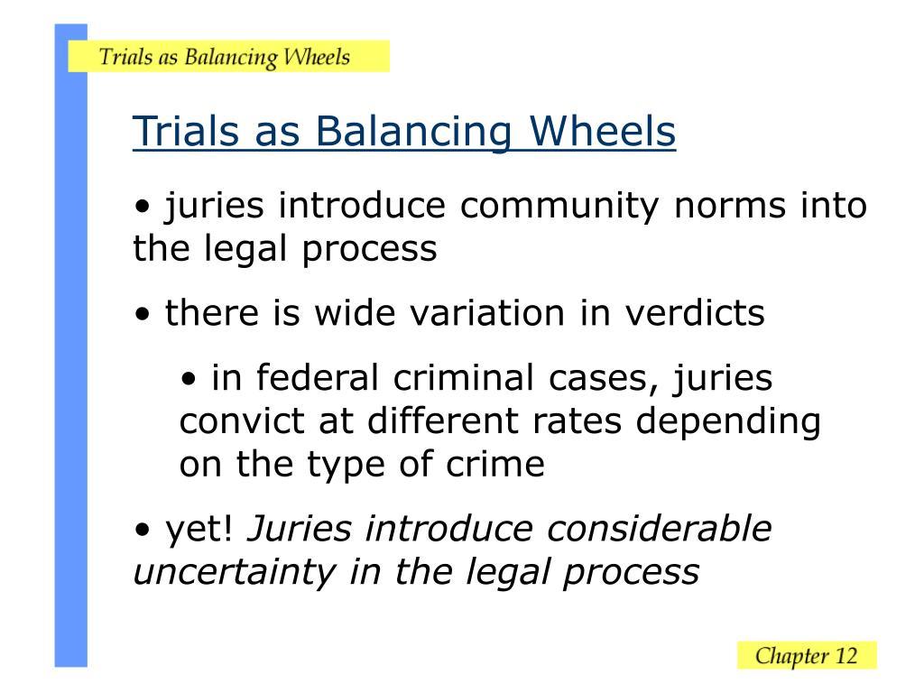 Trials as Balancing Wheels