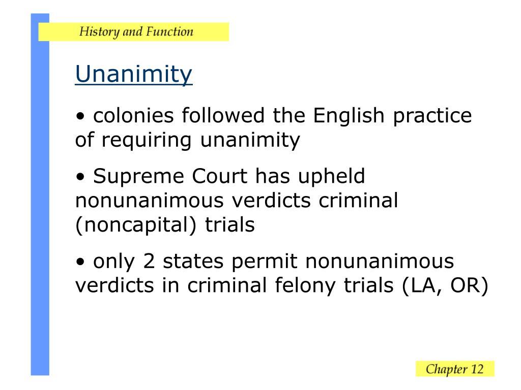 Unanimity