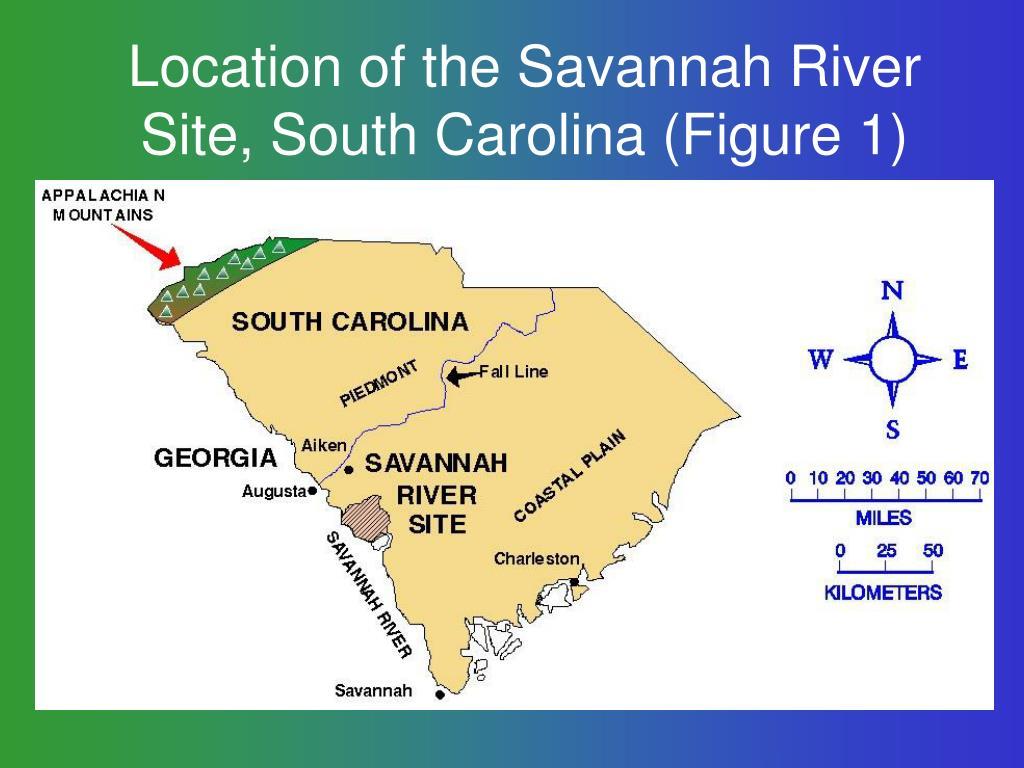 Location of the Savannah River Site, South Carolina (Figure 1)