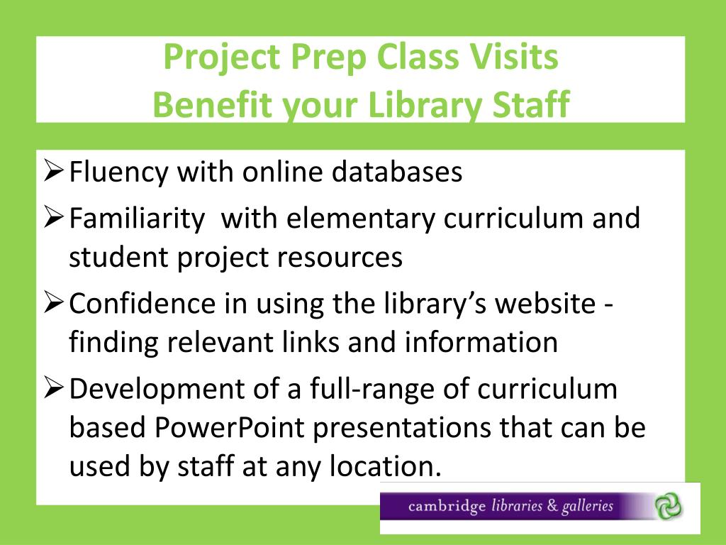 Project Prep Class Visits