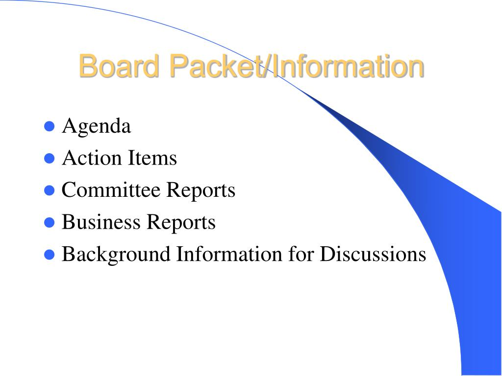Board Packet/Information