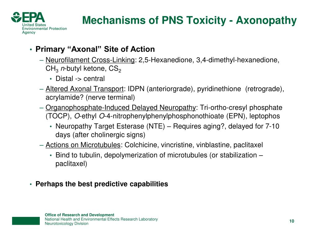 Mechanisms of PNS Toxicity - Axonopathy