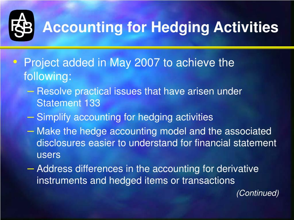 Accounting for Hedging Activities
