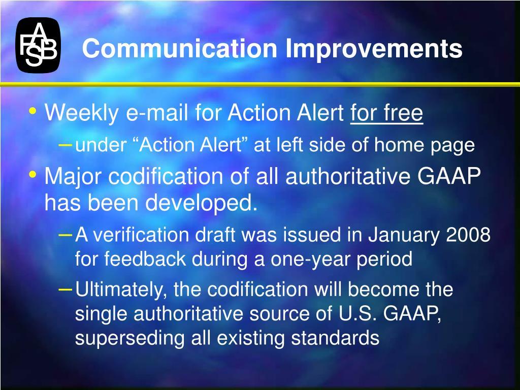 Communication Improvements