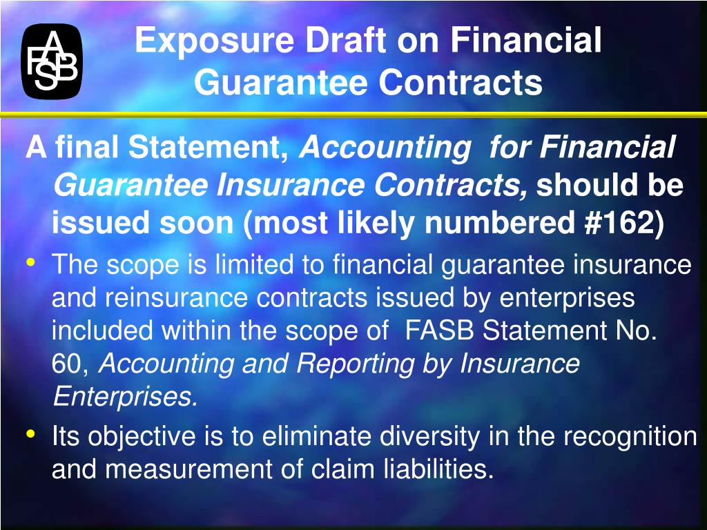 Exposure Draft on Financial Guarantee Contracts