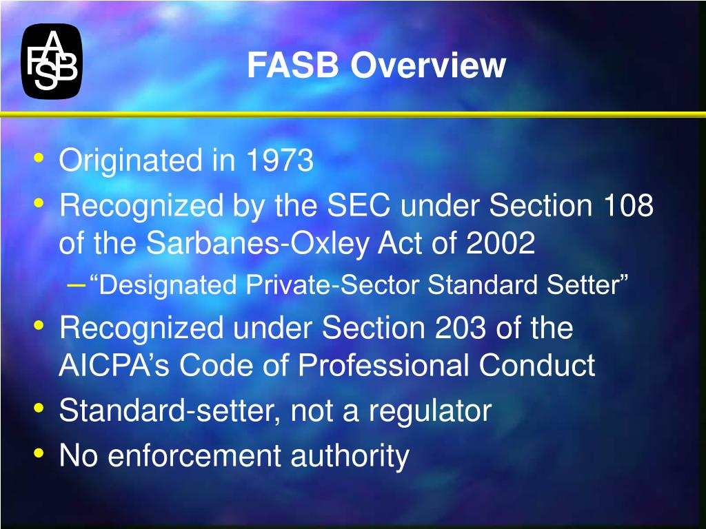 FASB Overview