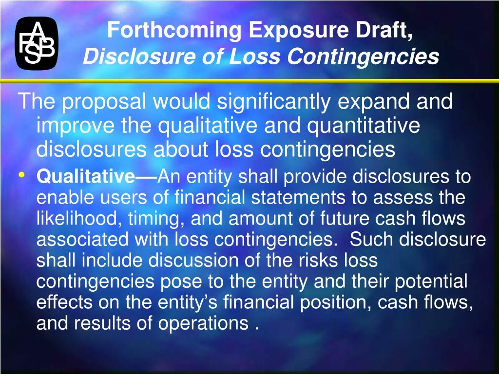 Forthcoming Exposure Draft,