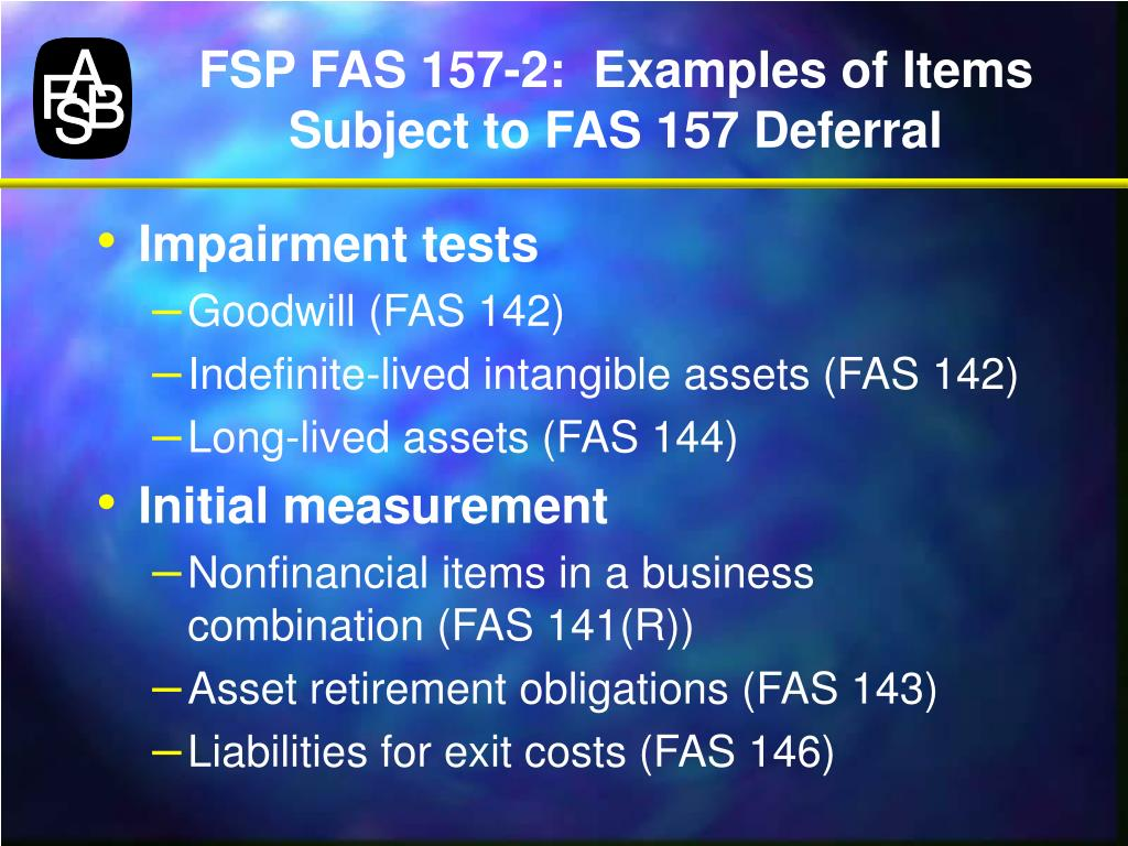 FSP FAS 157-2: