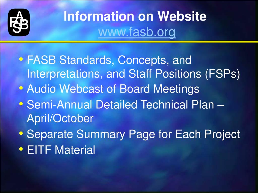 Information on Website