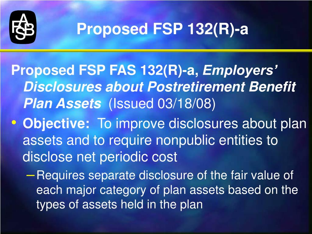 Proposed FSP 132(R)-a