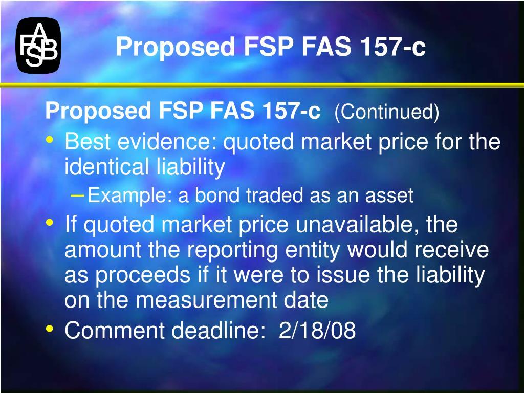 Proposed FSP FAS 157-c