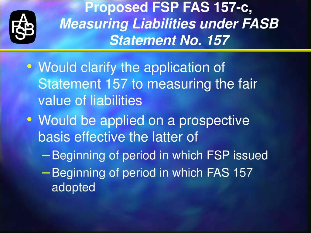 Proposed FSP FAS 157-c,