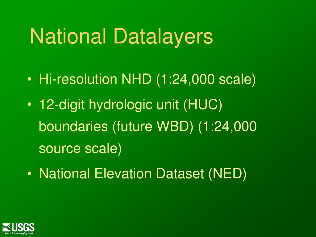 National Datalayers